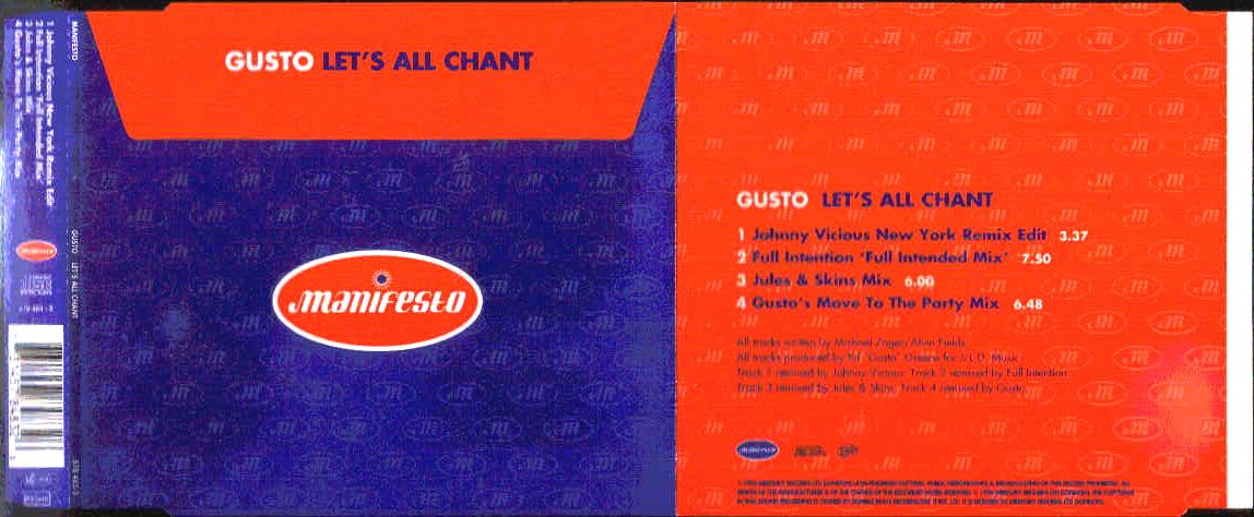 GUSTO - Let's All Chant Album