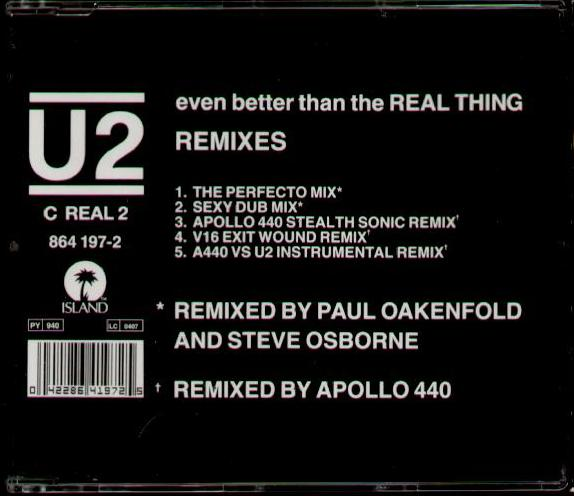 U2 - Even Better Than The Real Thing Remixes