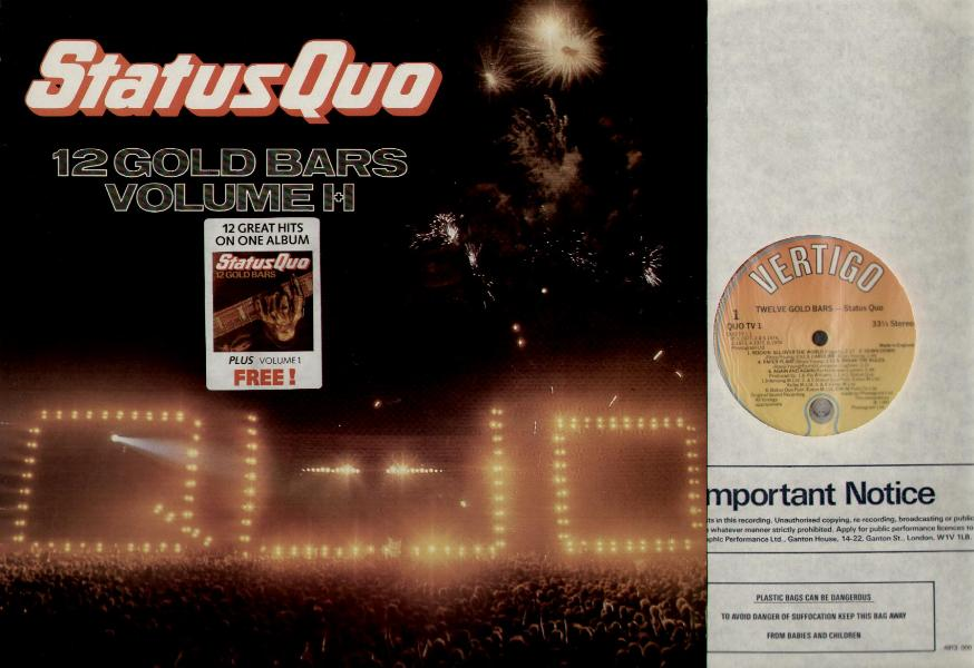 STATUS QUO - 12 Gold Bars Volume 1+2