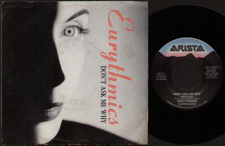 EURYTHMICS - Don't Ask Me Why Vinyl