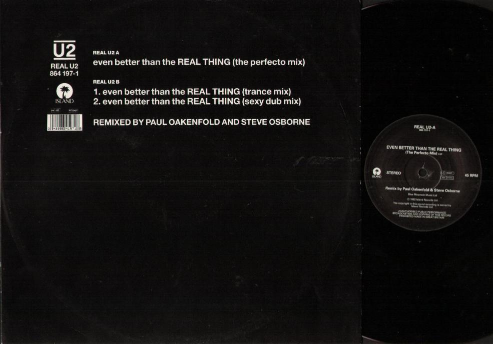 Even Better Than The Real Thing Remixes - U2
