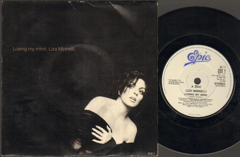 LIZA MINNELLI - Losing My Mind Single